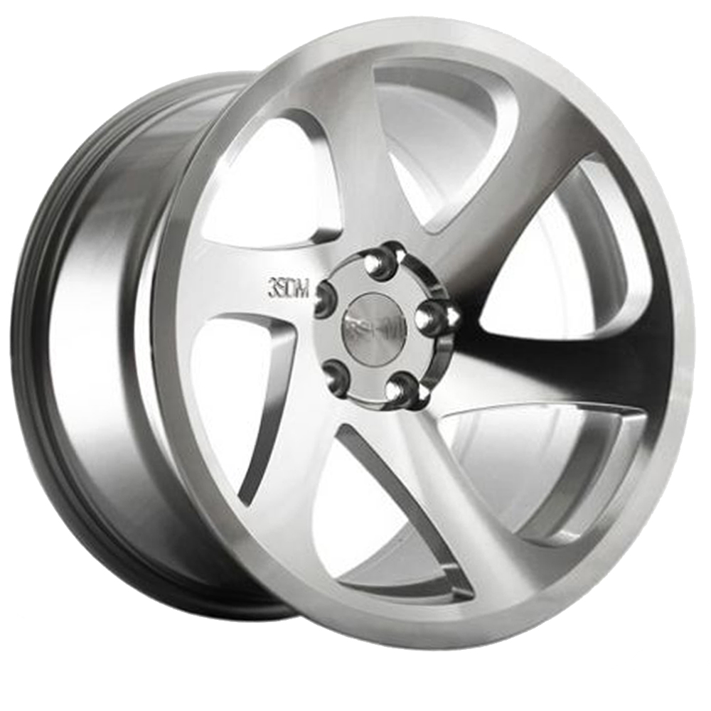 "NEW 18"" 3SDM 0.06 ALLOY WHEELS IN SILVER POLISHED WITH DEEPER CONCAVE 9.5"" REAR et35/40"