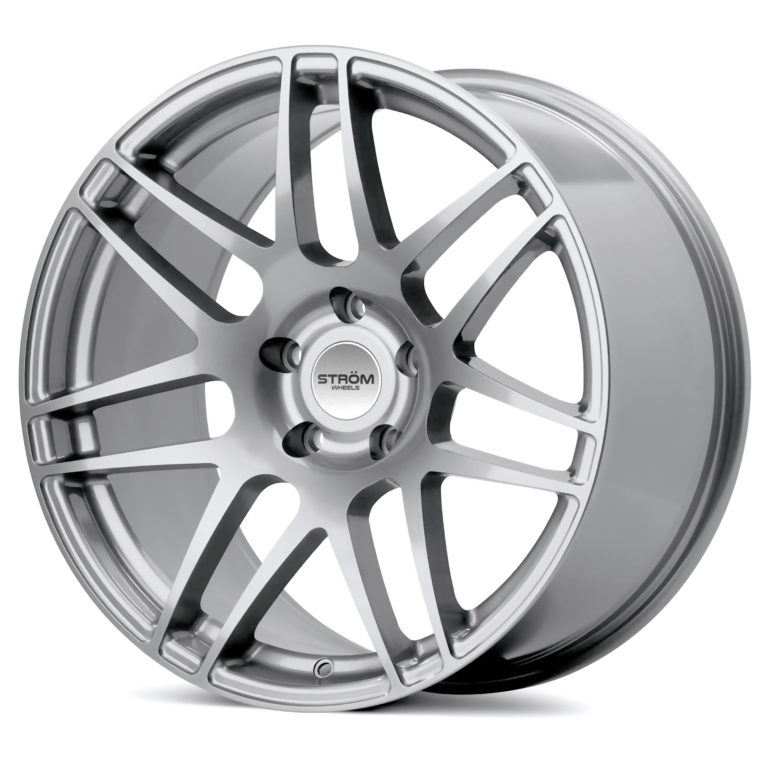 "NEW 19"" STROM STR3 ALLOY WHEELS IN HYPER SILVER WITH DEEPER CONCAVE 10"" REARS"