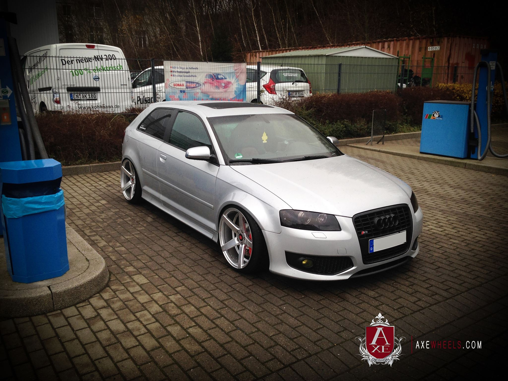 New 19 Quot Axe Ex18 Deep Concave Alloys In Silver Brushed
