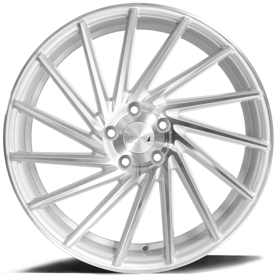 "NEW 19"" 1AV ZX1 DIRECTIONAL ALLOY WHEELS IN SILVER WITH POLISHED FACE, WIDER 9.5"" REARS ET40/40"