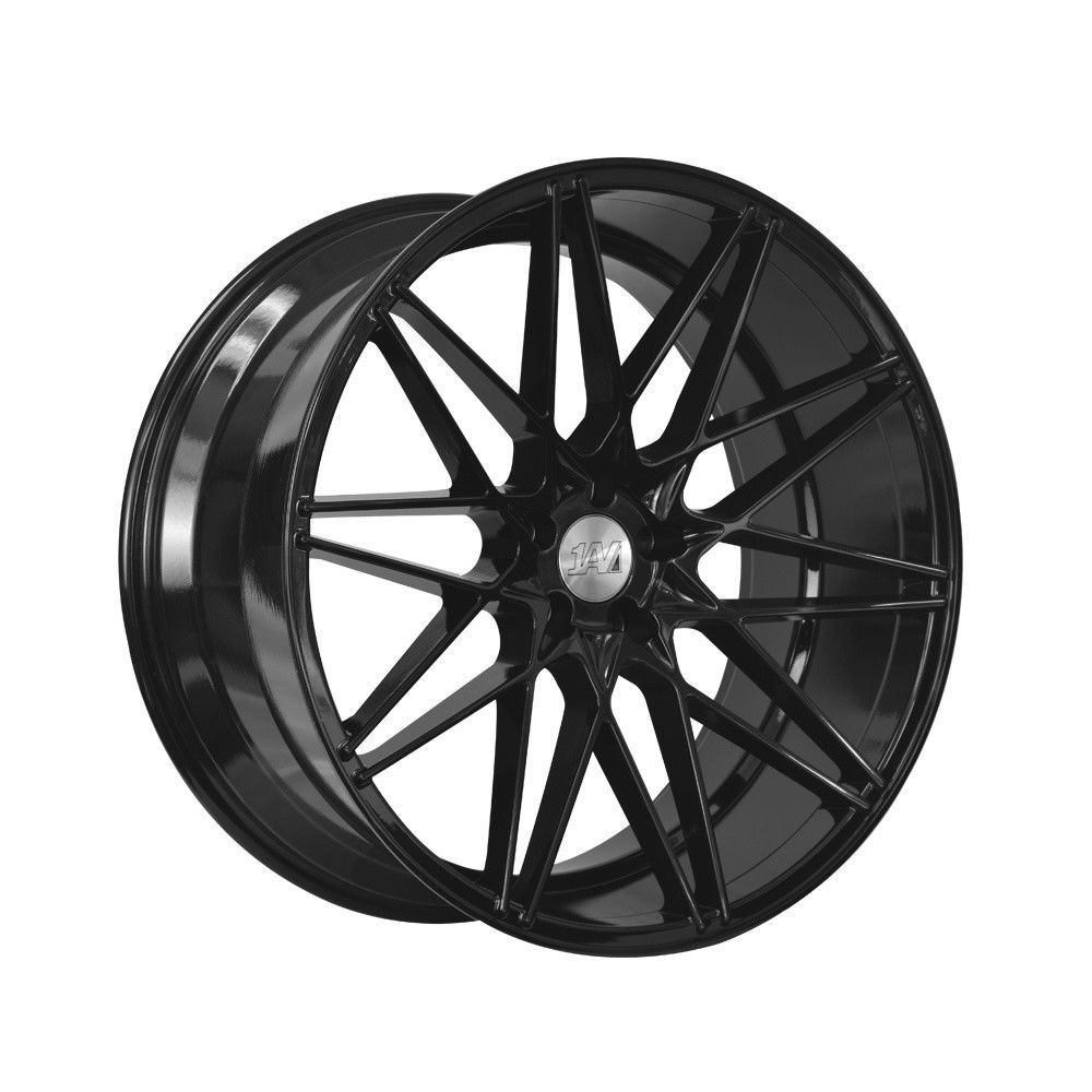 "NEW 20"" 1AV ZX4 ALLOY WHEELS IN GLOSS BLACK WIDER 10.5"" REARS"