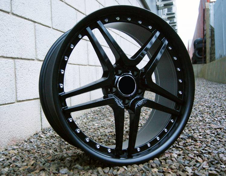 "NEW 20"" AM TWIN DEEP ALLOYS IN STEALTH BLACK WITH DEEP DISH AND MASSIVE 11"" REAR et28/28"
