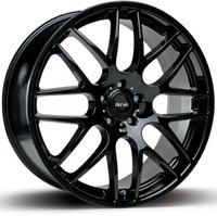 "NEW 18"" RIVA DTM CSL ALLOY WHEELS, GLOSS BLACK, DEEPER CONCAVE WIDER REAR"