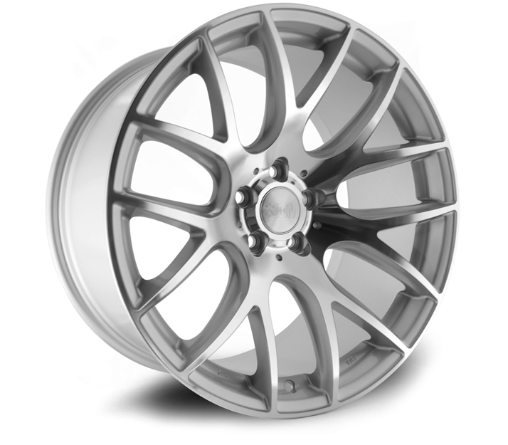 "NEW 18"" 3SDM 0.01 ALLOY WHEELS, POLISHED/SILVER, VERY DEEP CONCAVE 9.5"" REARS"