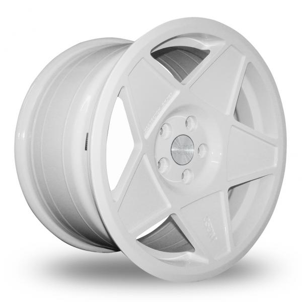 "NEW 18"" 3SDM 0.05 ALLOY WHEELS IN WHITE WITH DEEPER CONCAVE 9.5"" REAR et42/40"