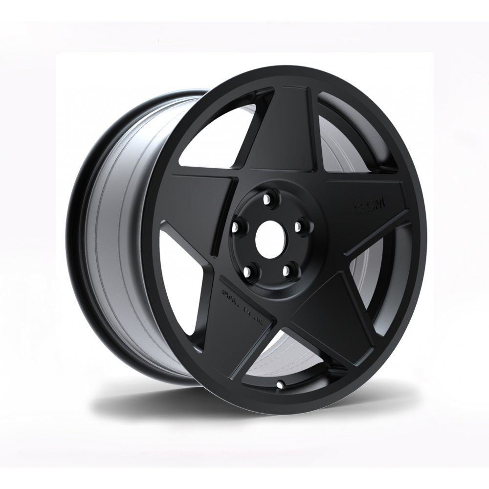 "NEW 18"" 3SDM 0.05 ALLOY WHEELS IN SATIN BLACK WITH DEEPER CONCAVE 9.5"" REAR et42/40"