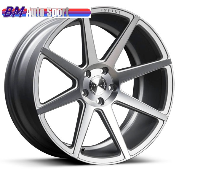 "NEW 20"" ISPIRI ISR8 ALLOY WHEELS IN SATIN SILVER/ SATIN POLISHED WITH DEEPER CONCAVE 10"" REARS"