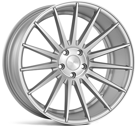 "NEW 19"" VEEMANN VC7 (VM2) DEEP CONCAVE ALLOY WHEELS IN SATIN SILVER WITH SATIN POLISHED FACE"