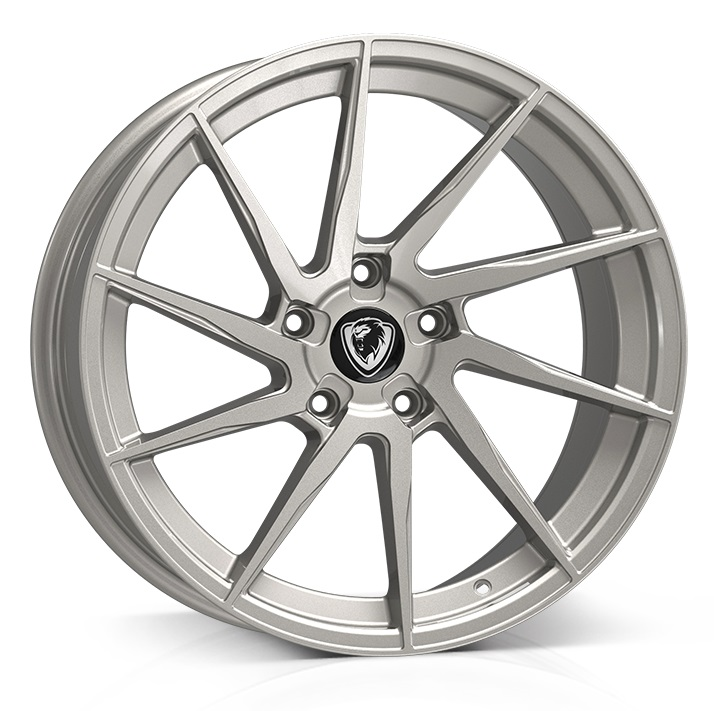"NEW 18"" CADES KRATOS HYPER SILVER ALLOY WHEELS, WIDER 9"" REAR"