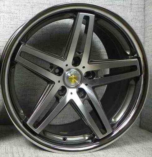 "NEW 19"" CADES STRIKE ALLOY WHEELS IN GUNMETAL POL AND STAINLESS STEEL DISH"
