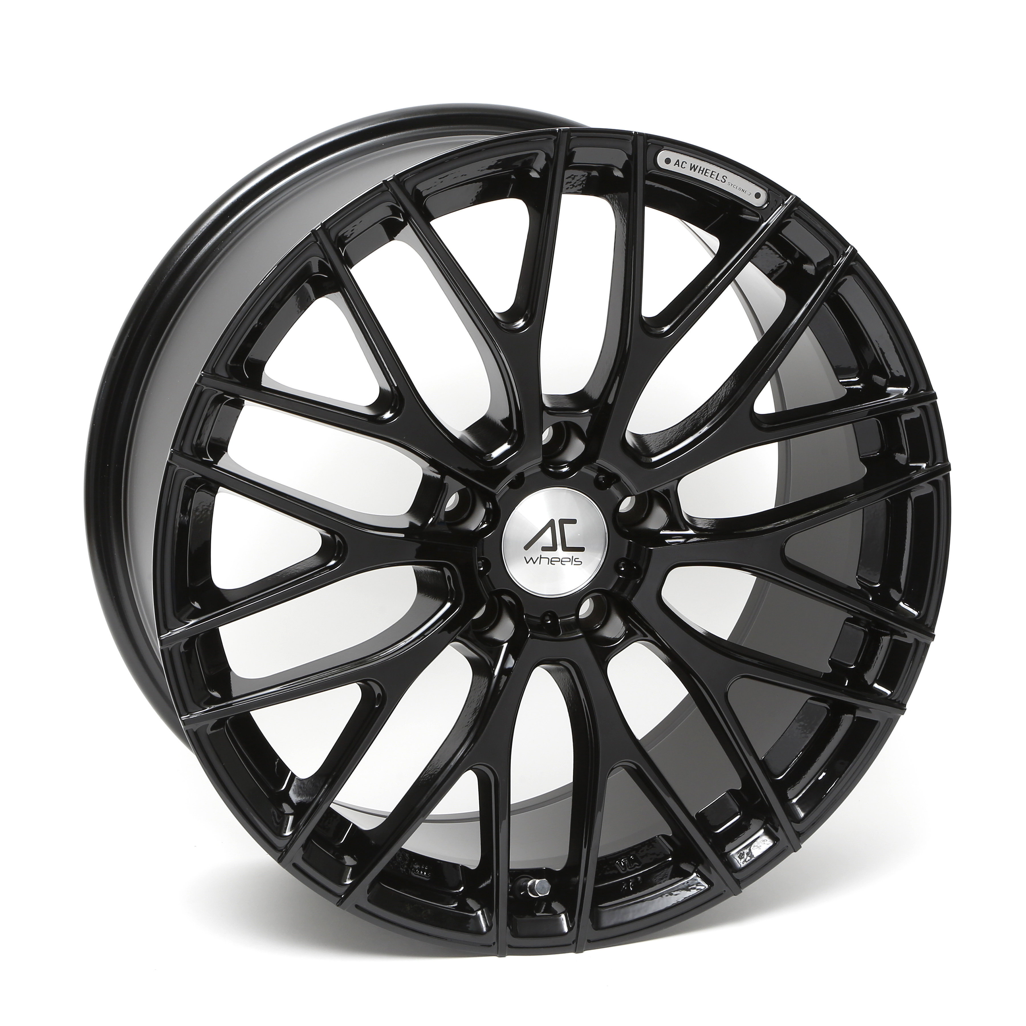 "NEW 18"" AC SYCLONE ALLOY WHEELS IN GLOSS BLACK, WIDER 9"" REARS"