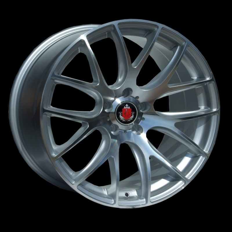 "NEW 19"" AXE CS LITE ALLOYS IN SILVER POL, DEEPER CONCAVE 9.5"" REARS"