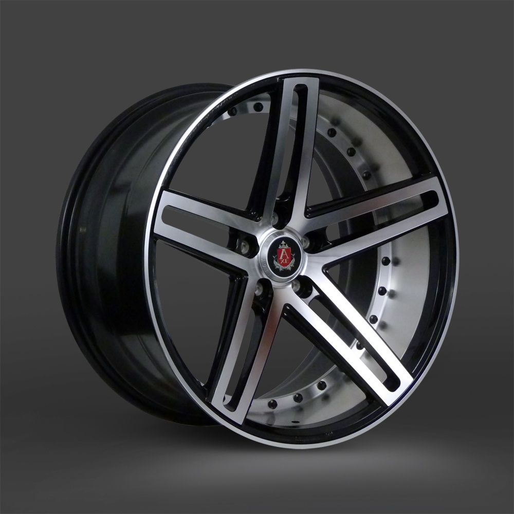 "NEW 20"" AXE EX20 ALLOY WHEELS IN BLACK WITH POLISHED FACE AND BARREL WITH DEEPER CONCAVE 10"" REARS et40/et42"
