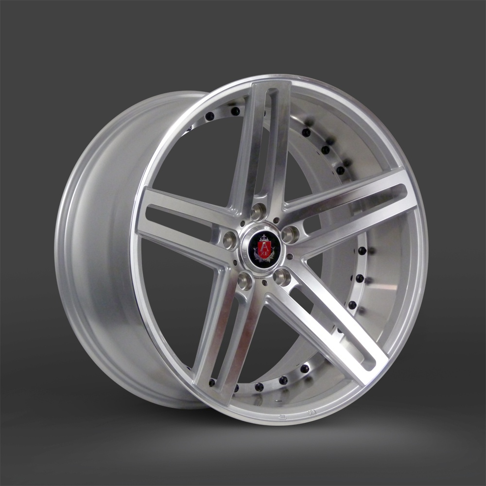 "NEW 20"" AXE EX20 ALLOY WHEELS IN SILVER WITH POLISHED FACE AND BARREL WITH DEEPER CONCAVE 10"" REARS et40/42"