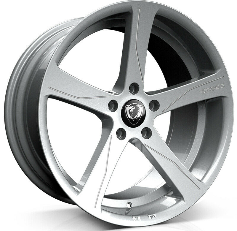 "NEW 19"" CADES APOLLO ALLOYS IN HYPER SILVER RC EDITION 8.5""ET40"