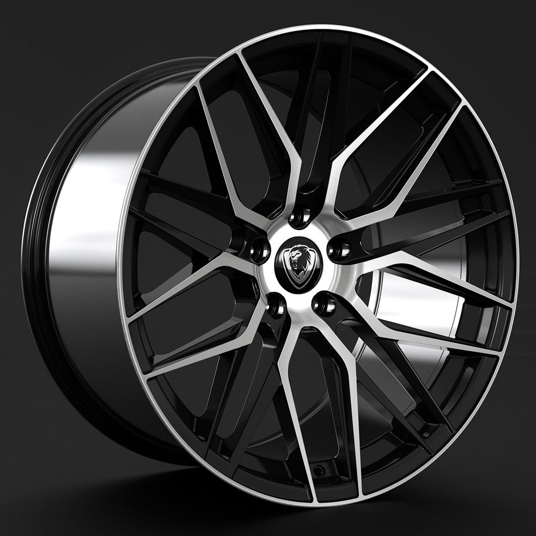 "NEW 20"" CADES HERA ALLOY WHEELS IN BLACK POLISHED WITH 10"" DEEP CONCAVE REARS"