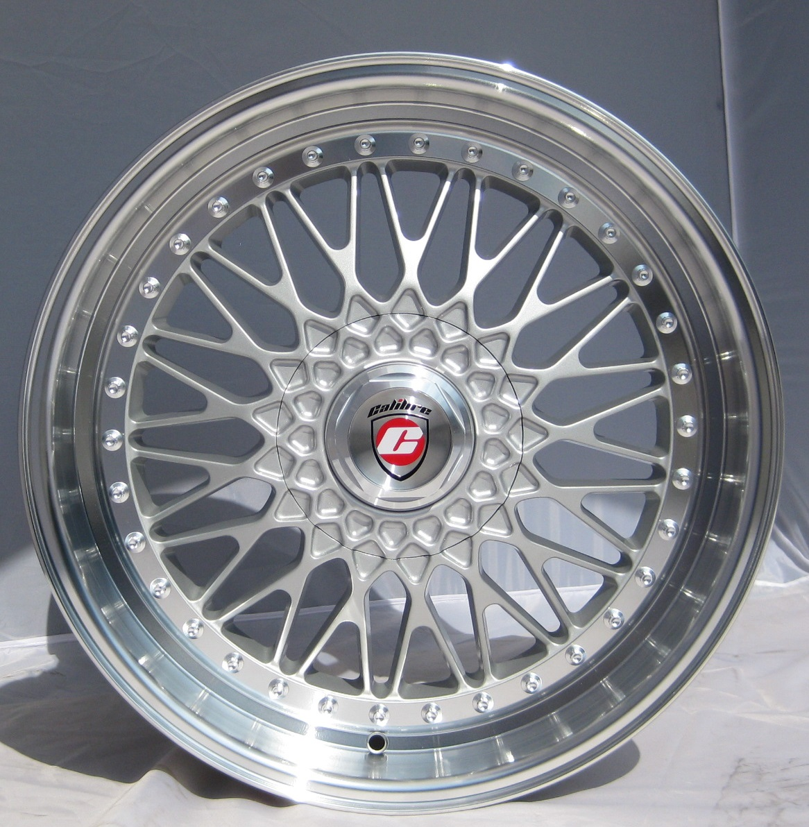 "NEW 17"" CALIBRE VINTAGE DEEP DISH X SPOKE ALLOYS WITH 9"" DEEPER REAR ET35/35"