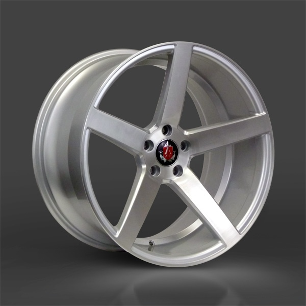 "NEW 20"" AXE EX18 DEEP CONCAVE ALLOYS IN SILVER/BRUSHED  WITH MASSIVE 6"" DEEP DISH, BIG 10.5"" REAR"