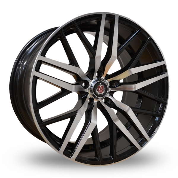 "NEW 20"" AXE EX30 ALLOY WHEELS IN GLOSS BLACK WITH POLISHED FACE, DEEP CONCAVE, WIDER 10"" REAR"