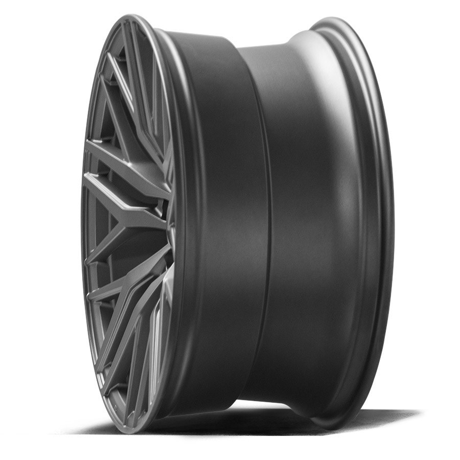 New 20 Quot Axe Ex30 Alloy Wheels In Satin Grey Deep Concave