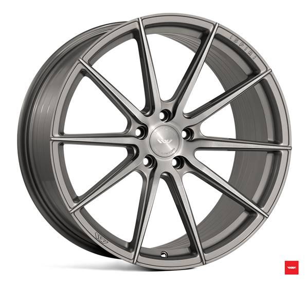 "NEW 20"" ISPIRI FFR1 MULTI-SPOKE ALLOY WHEELS IN CARBON GREY BRUSHED, DEEPER CONCAVE 10"" REARS et42/45"