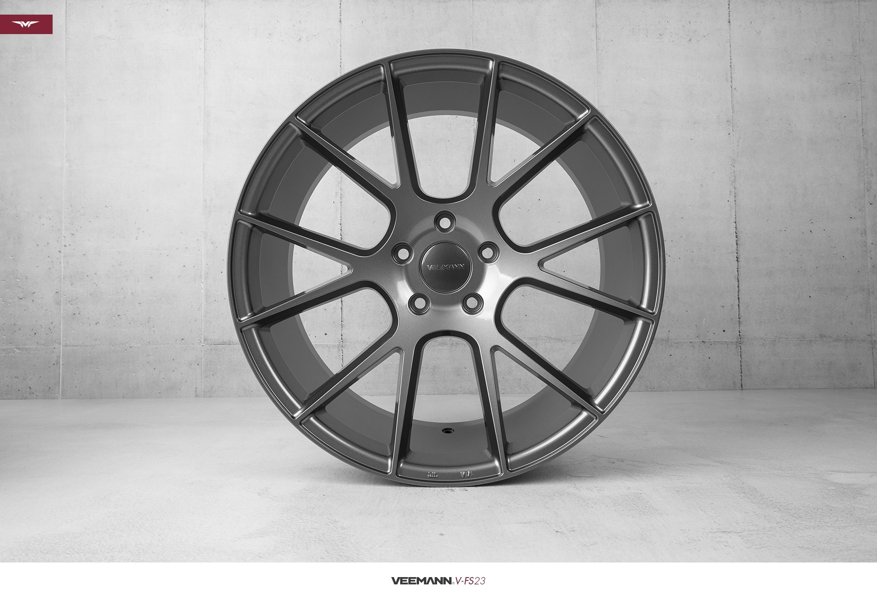 "NEW 18"" VEEMANN V-FS23 ALLOY WHEELS IN GLOSS GRAPHITE WITH WIDER 9"" REARS"