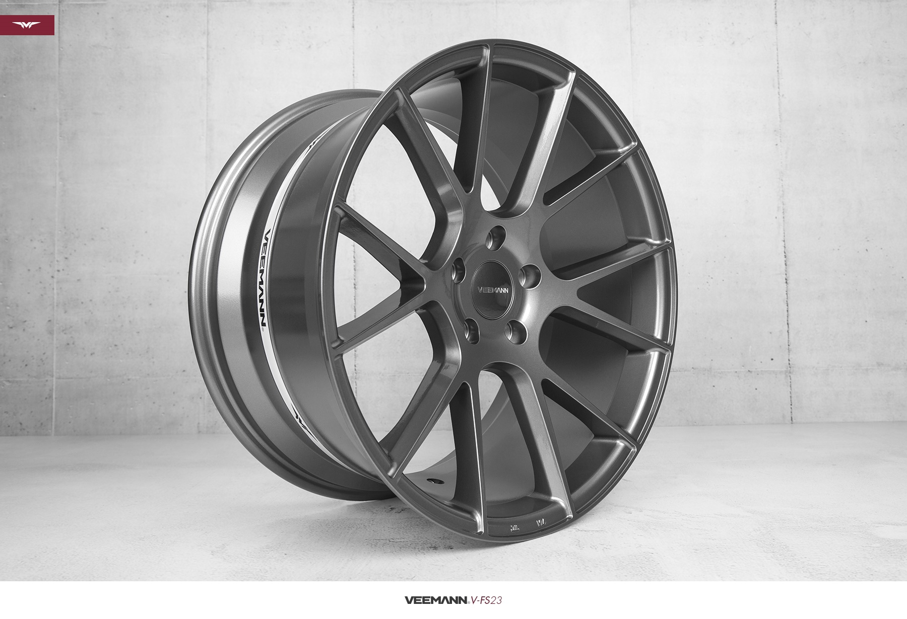 New 18 Quot Veemann V Fs23 Alloys In Gloss Graphite With Wider