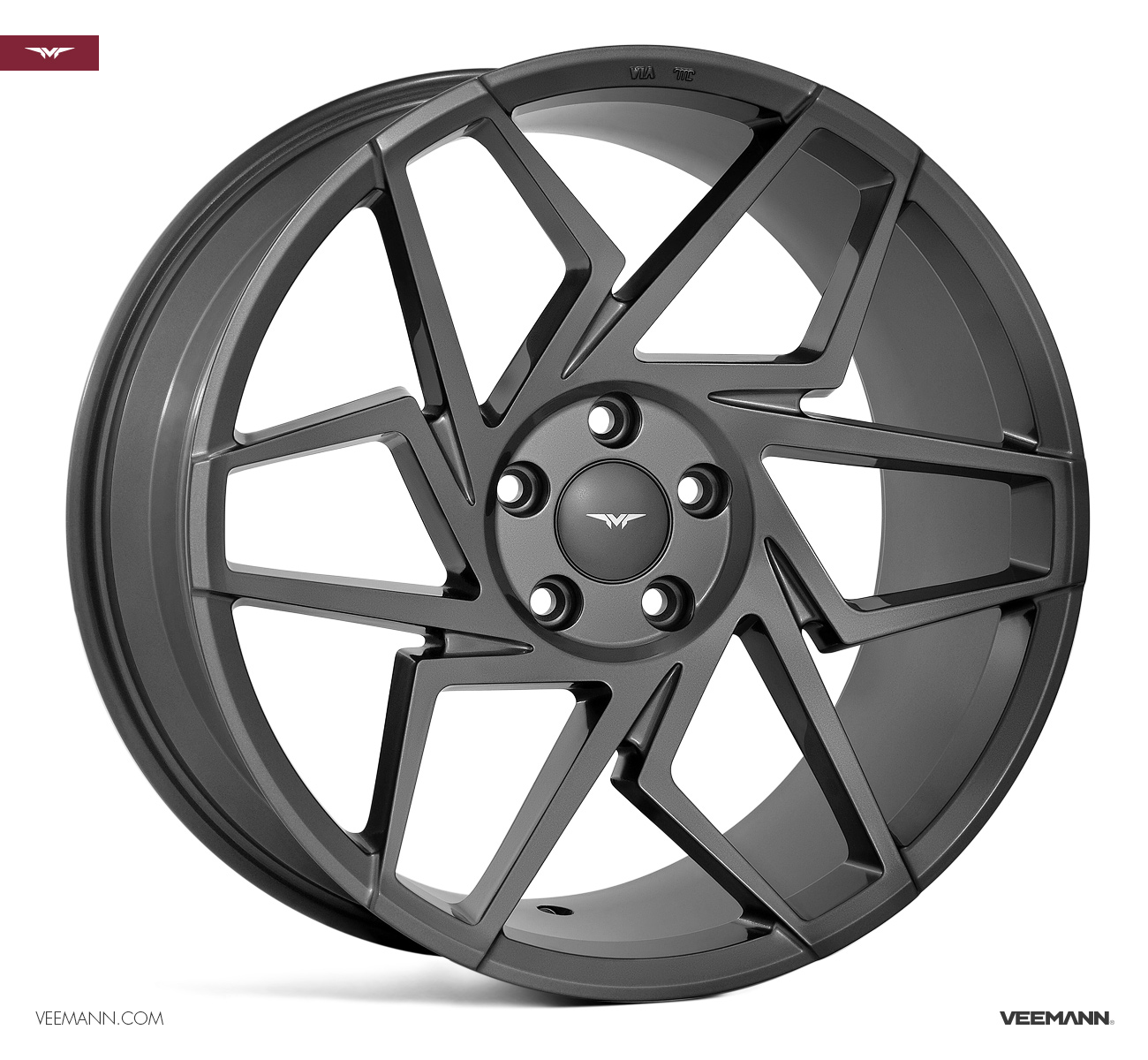 "NEW 20"" VEEMANN V-FS27R ALLOY WHEELS IN GLOSS GRAPHITE WITH WIDER 10"" REARS"