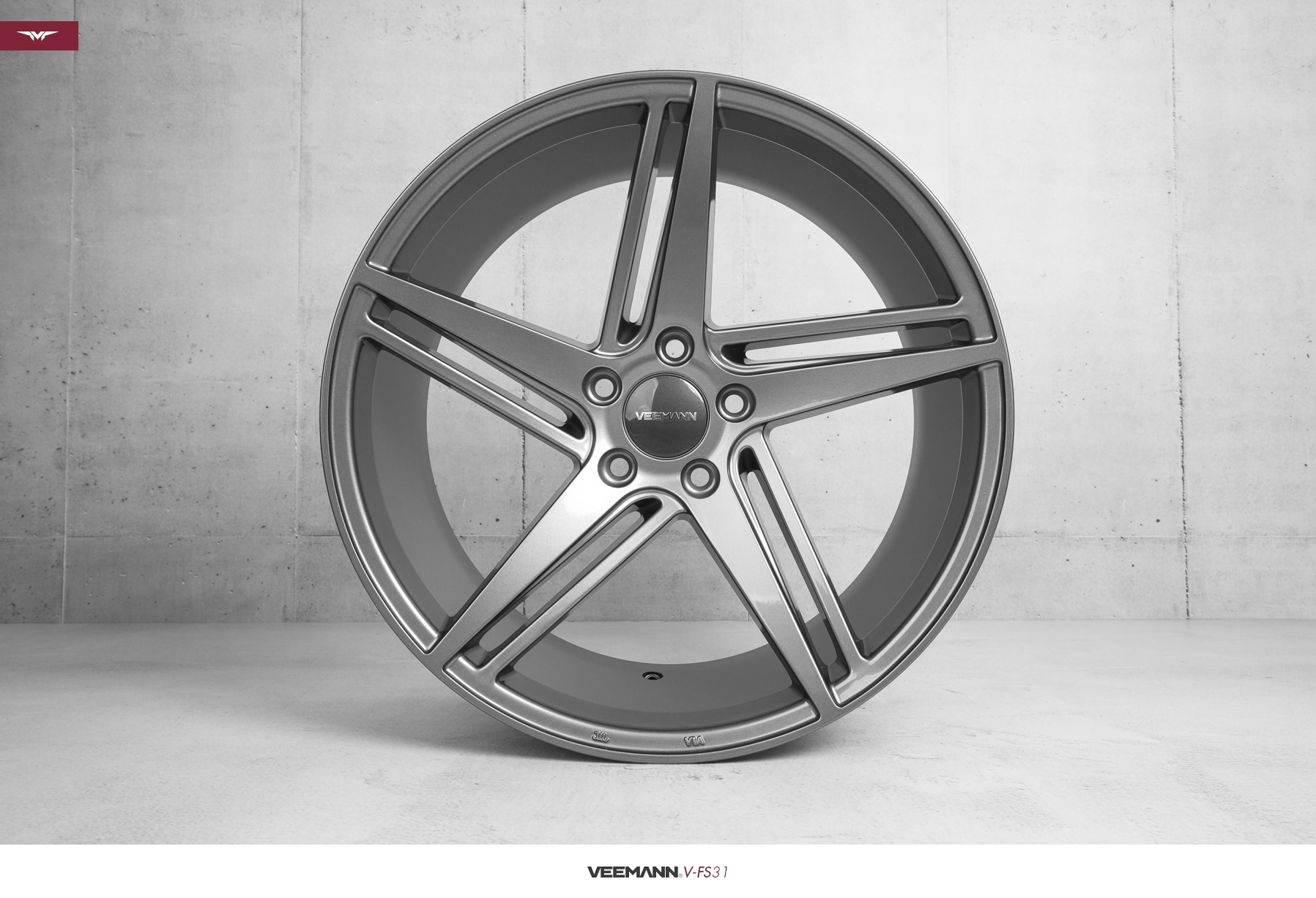 "NEW 18"" VEEMANN V-FS31 ALLOYS IN GLOSS GRAPHITE WITH WIDER 9"" REARS"