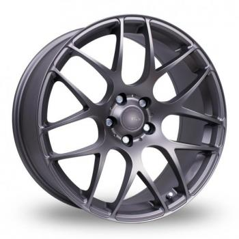 "NEW 18"" FOX MS007 ALLOY WHEELS IN MATT GREY WITH WIDER 8.5"" REARS"