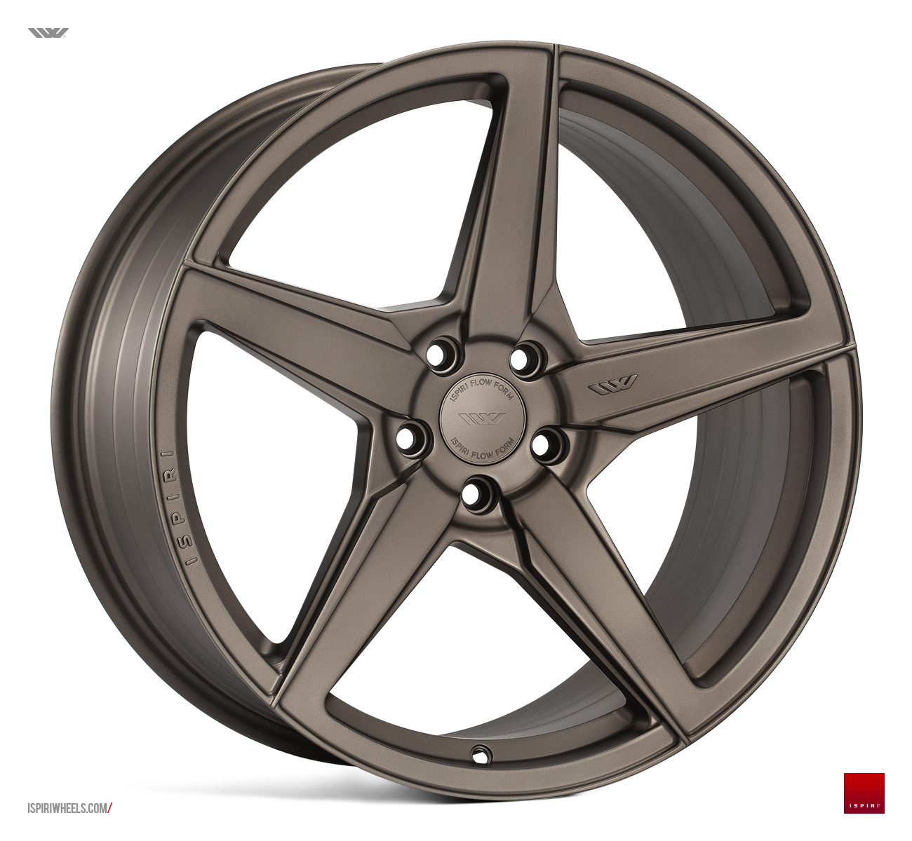 "NEW 20"" ISPIRI FFR5 5 SPOKE ALLOY WHEELS IN MATT CARBON BRONZE, WIDER 10"" REARS et32/45 5X112"