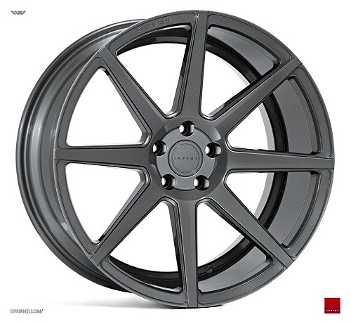 "NEW 19"" ISPIRI ISR8 ALLOY WHEELS IN CARBON GRAPHITE WITH DEEPER CONCAVE 9.5"" REARS"