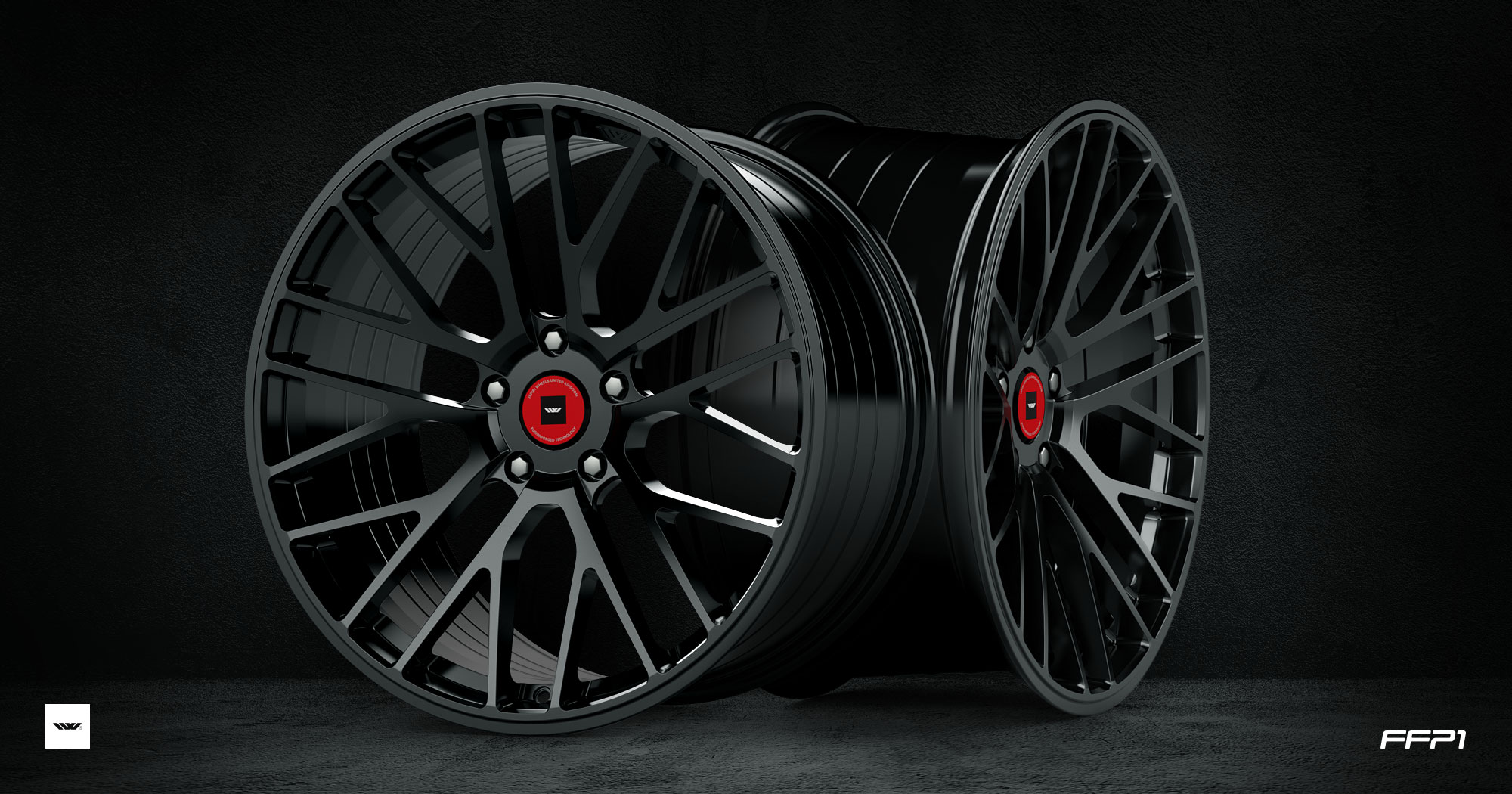 "NEW 19"" ISPIRI FFP1 ALLOY WHEELS IN CORSA BLACK, DEEPER CONCAVE 9.5"" REARS"