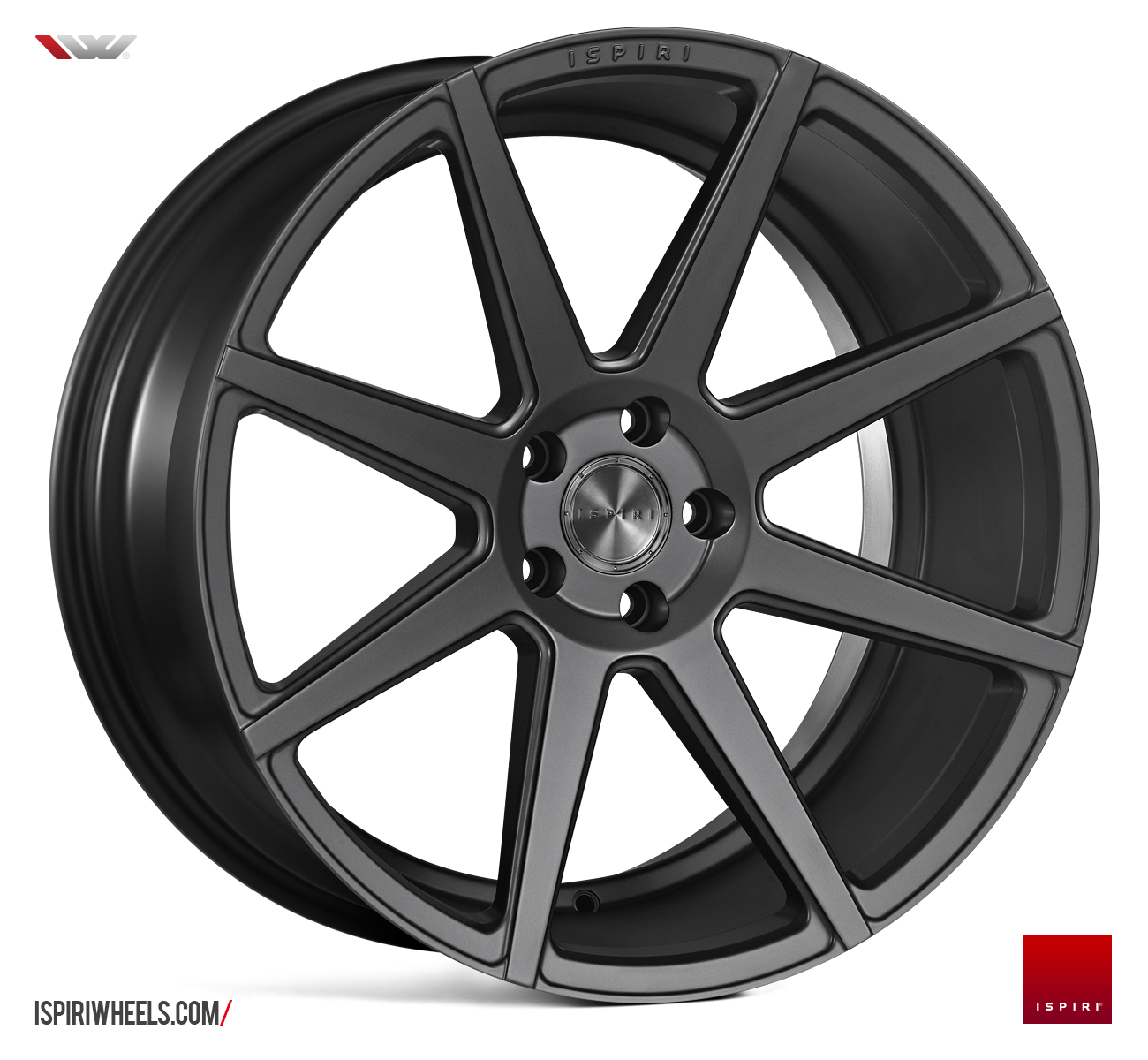 "NEW 20"" ISPIRI ISR8 ALLOY WHEELS IN CARBON GRAPHITE WITH WIDER 10"" REARS"
