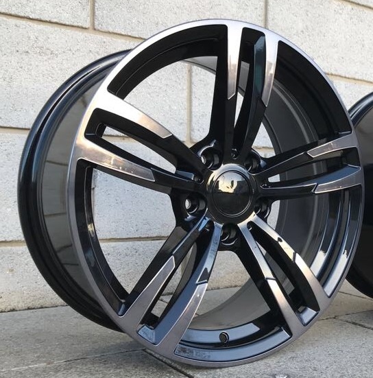 "NEW 18"" KR1135 4M ALLOY WHEELS IN SHADOW BLACK WITH WIDER 9"" REARS"