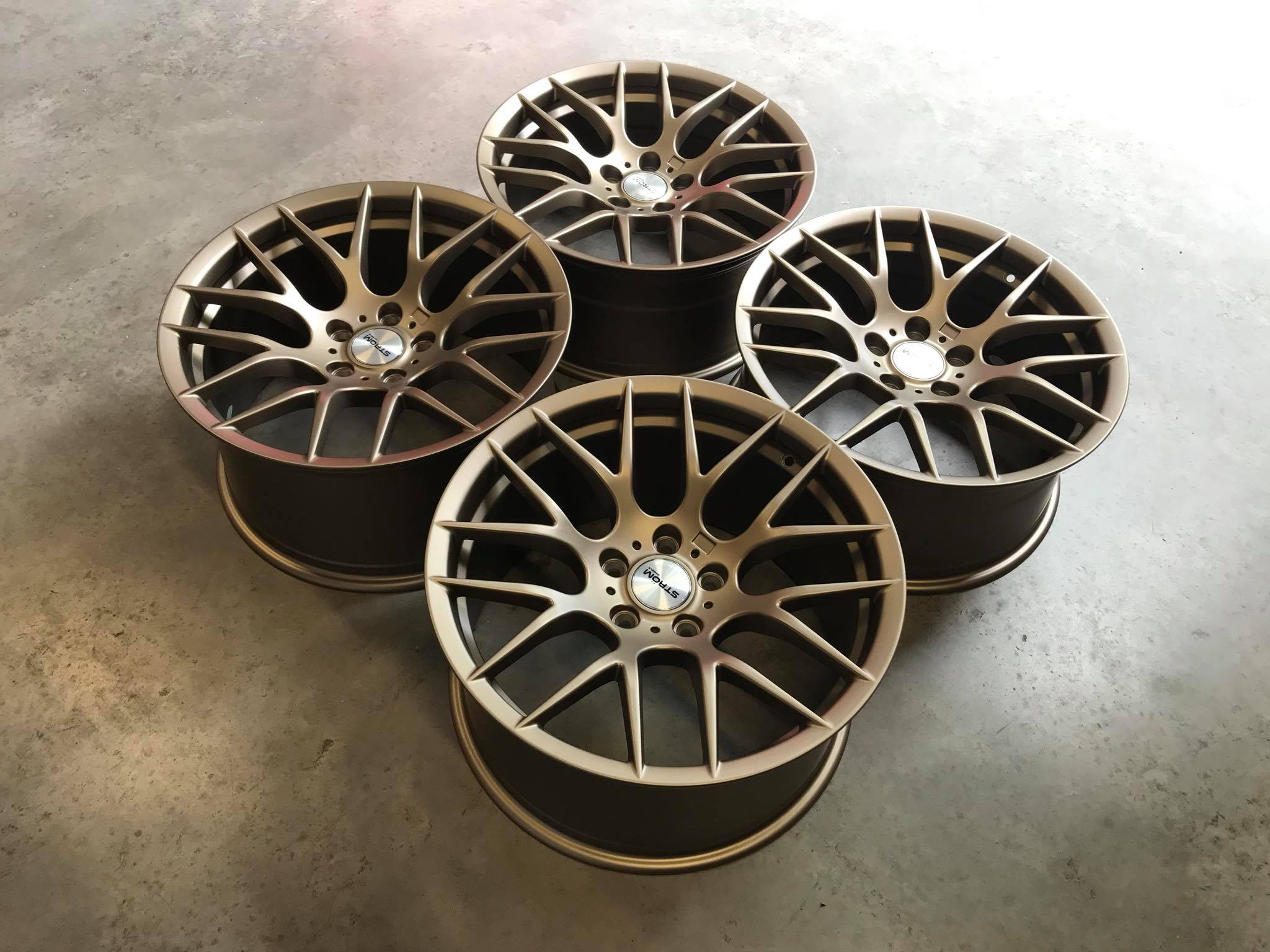 New 19 Quot Strom 359 Y Spoke Alloys In Bronze With Deeper