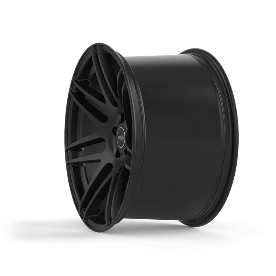 New 19 Quot Strom Str3 Alloy Wheels In Satin Black With Ultra