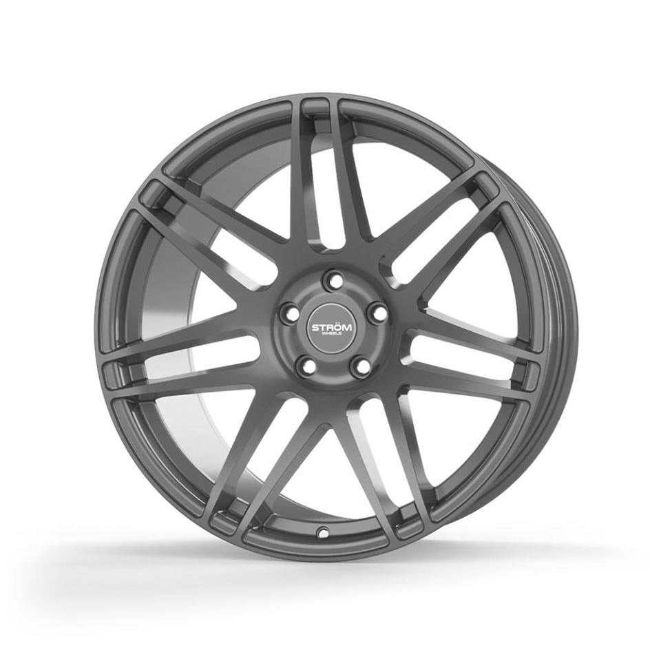 "NEW 22"" STROM STR3 ALLOY WHEELS IN GLOSS GUNMETAL WITH ULTRA DEEP CONCAVE 12"" REARS"