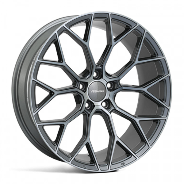 "NEW 19"" VEEMANN V-FS66 ALLOY WHEELS IN GRAPHITE SMOKE MACHINED, WIDER 9.5"" REARS"