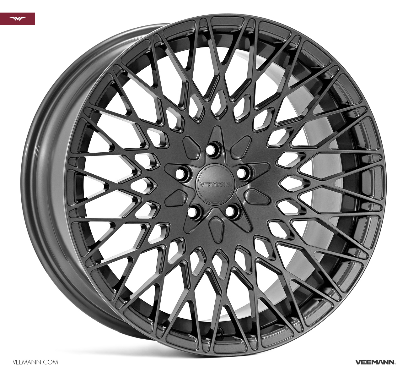 "NEW 19"" VEEMANN VC540 ALLOY WHEELS IN GLOSS GRAPHITE WITH WIDER 9.5"" REARS"