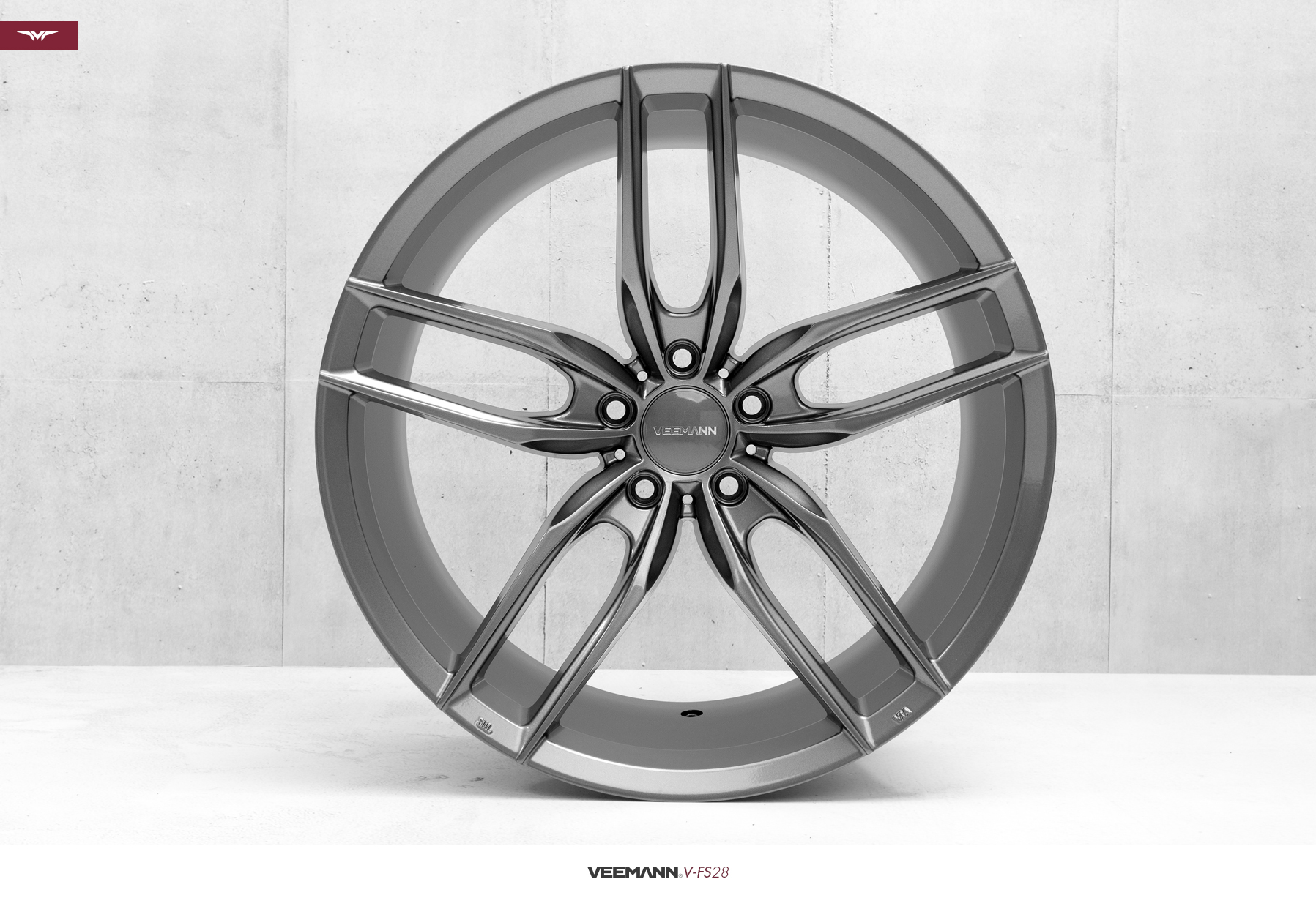 "NEW 20"" VEEMANN V-FS28 ALLOYS IN GLOSS GRAPHITE WITH DEEPER CONCAVE 10"" REARS"