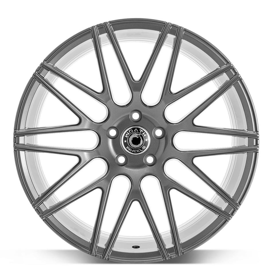 "NEW 19"" WRATH WF3 ALLOY WHEELS IN GLOSS GUNMETAL, WIDER 9.5"" REARS"