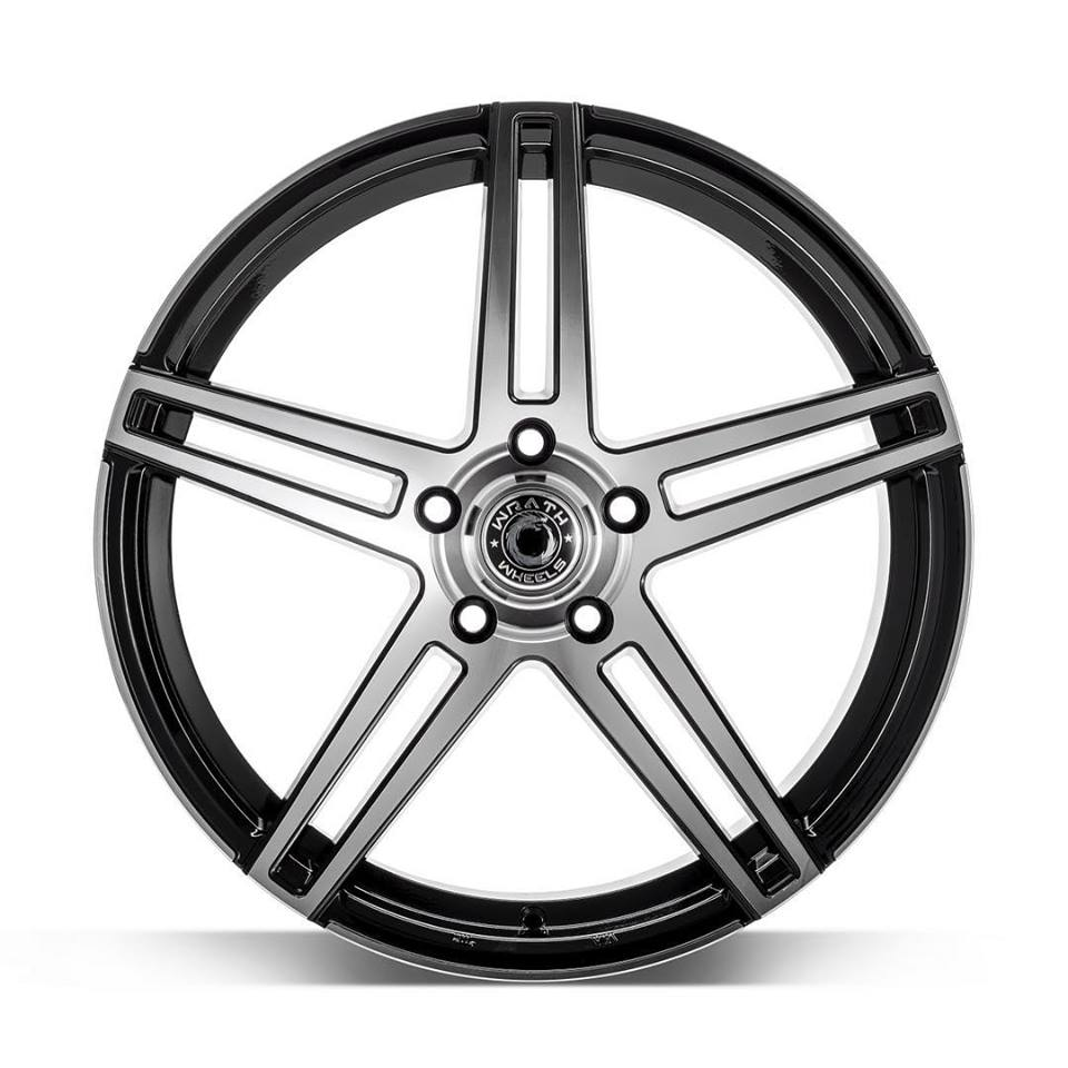 "NEW 18"" WRATH WF1 ALLOY WHEELS IN GLOSS BLACK WITH POLISHED FACE, WIDER 9"" REARS*"