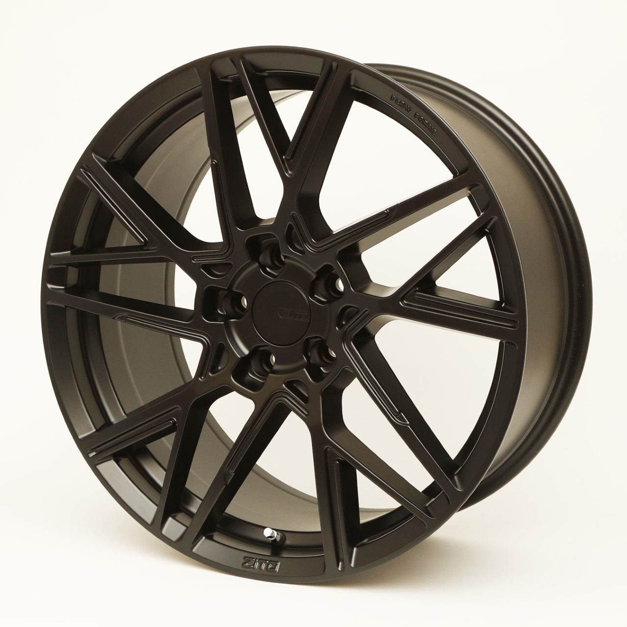 "NEW 19"" ZITO ZF-X FLOW FORMED ALLOY WHEELS IN SATIN BLACK WITH DEEPER CONCAVE 9.5"" REAR"