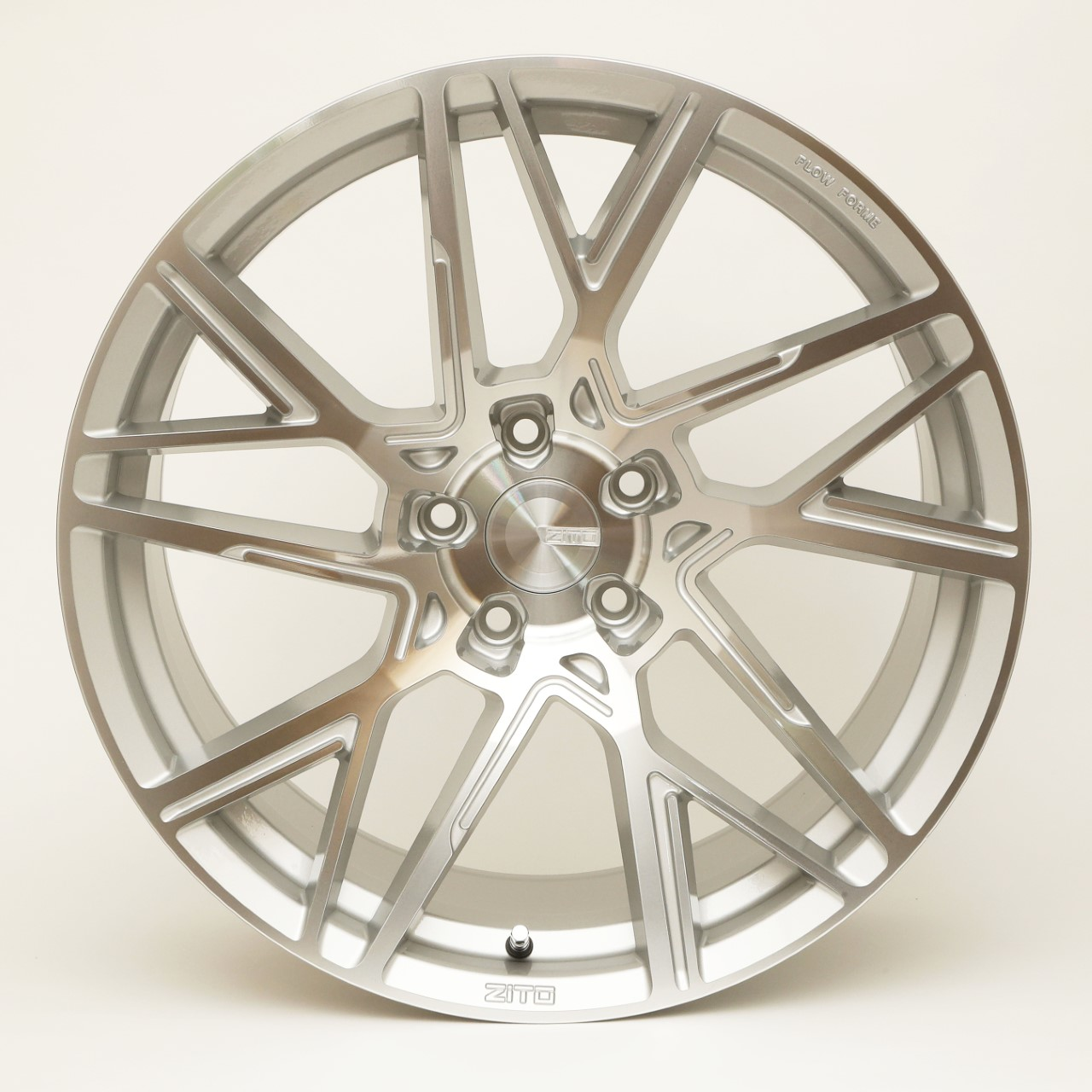 "NEW 20"" ZITO ZF-X FLOW FORMED ALLOY WHEELS IN SILVER WITH POLISHED FACE WITH DEEPER CONCAVE 10"" REAR"