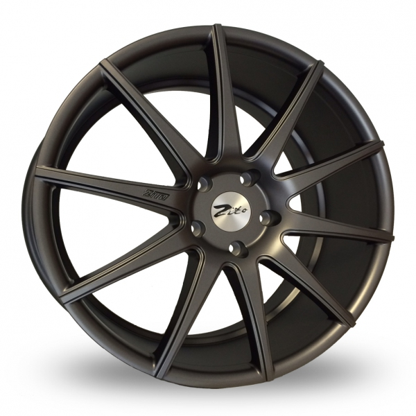 "NEW 21"" ZITO ZS03 ALLOY WHEELS IN MATT GUNMETAL 9""ET30 ALL ROUND"