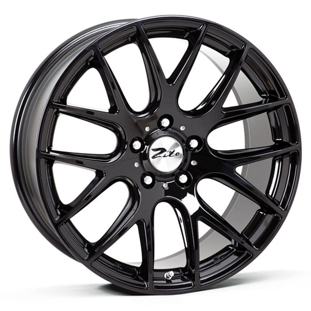 "NEW 18"" ZITO 935 CSL GTS ALLOYS IN GLOSS BLACK,DEEPER CONCAVE 9.5"" REARS"