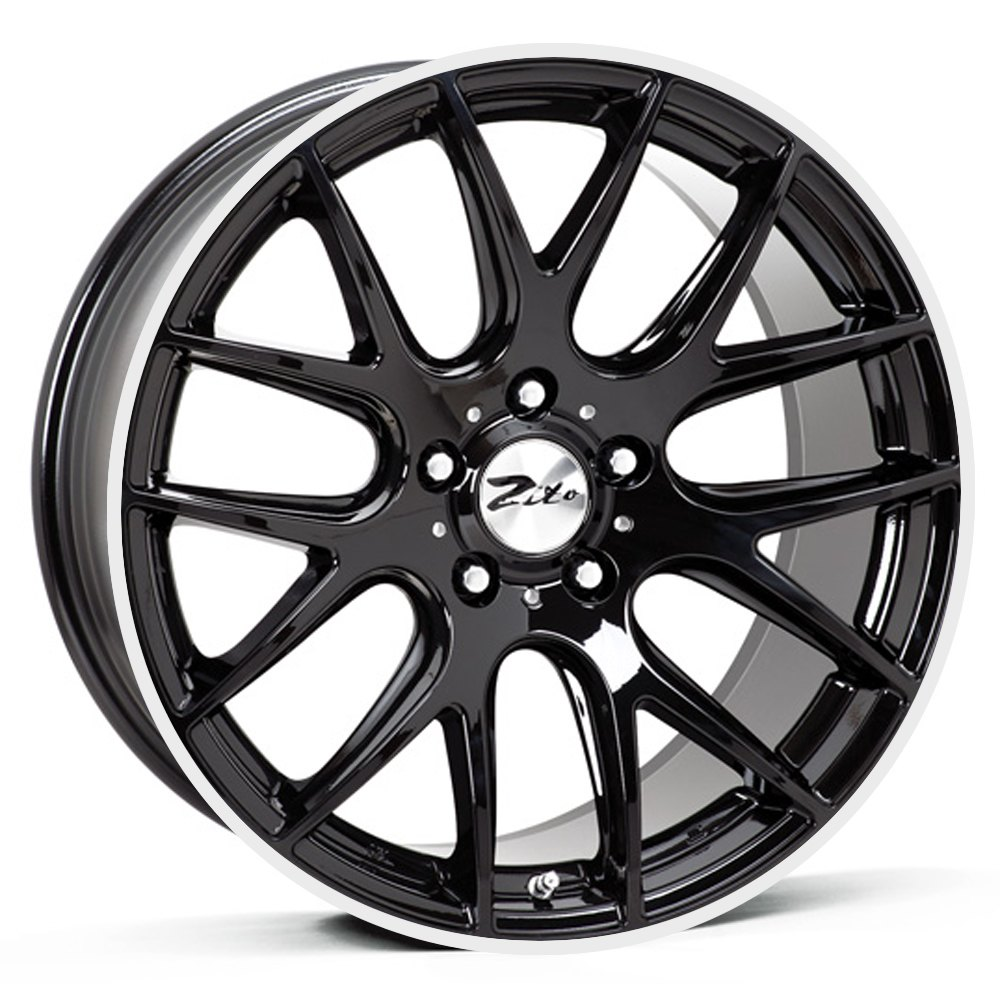"NEW 20"" ZITO 935 CSL GTS ALLOYS IN GLOSS BLACK WITH POLISHED LIP, WIDER 9.5"" REARS"