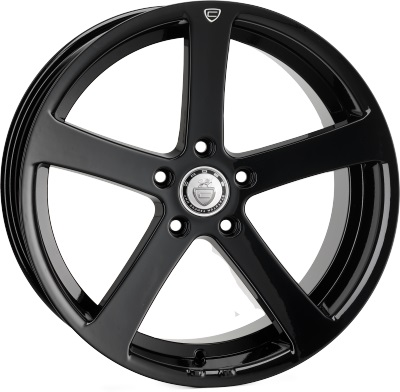 "NEW 19"" CADES APOLLO GLOSS BLACK ALLOYS, DEEP CONCAVE 9.5"" REARS"