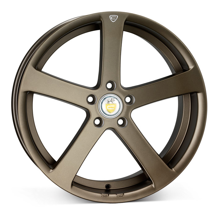 "NEW 19"" CADES APOLLO ALLOY WHEELS IN SATIN BRONZE WITH DEEPER 9.5"" REAR et40/45"